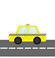 taxi car cab icon on road cartoon vector image vector image