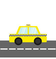 taxi car cab icon on the road cartoon vector image vector image