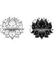 thai tradition tattoo lotus vector image vector image