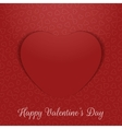 Valentines Day realistic greeting Card paper Heart vector image vector image