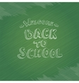welcome Back to school text on green chalkboard vector image