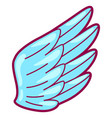 wing in cartoon style cute funny vector image