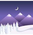 winter background with mountains at night vector image vector image