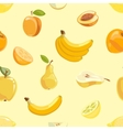 Yellow fruits seamless pattern over white vector image vector image