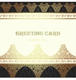 Card in traditional oriental style vector image