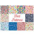 font seamless patterns with letter and number vector image