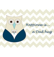 Fathers Day Dad hug designed Card designed vector image
