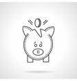 Deposit pig flat line icon vector image