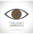 abstract eye icon brown vector image