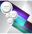 Abstract web design bubble line abstract vector image vector image