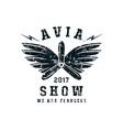 air show emblem vector image vector image