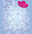 alentine s day love and feelings background design vector image