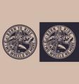 animal moto rider vintage badge vector image vector image