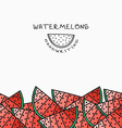 Background pattern of watermelon handmade design vector image vector image