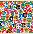 background pattern with coat arms collection vector image vector image