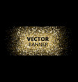 banner with golden glitter explosion sparkles on vector image