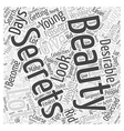 beauty secrets Word Cloud Concept vector image vector image