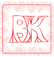 BK monogram vector image vector image