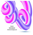 blue-pink flow a wavy modern wave with shadow vector image vector image