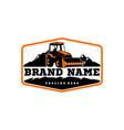 bulldozer logo template vector image vector image