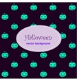 Card background with Halloween neo pumpkin vector image vector image