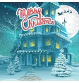 cartoon Merry Christmas vector image