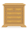 chest of drawers 02 vector image