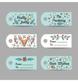 Christmas Gift Tags With Typography New Year vector image vector image