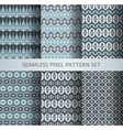 collection pixel gray seamless patterns vector image vector image
