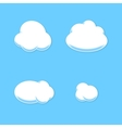 Comic Cloud Set Cartoon Style vector image vector image