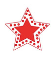 crhistmas star light icon vector image vector image