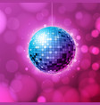 disco ball ball pink background vector image