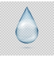 Falling transparent water drop isolated vector image vector image