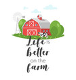 farm slogan for apparel design vector image vector image