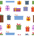 gift box seamless pattern celebration background vector image vector image