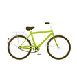 Green bicycle isolated on white vector image