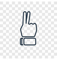 hand concept linear icon isolated on transparent vector image