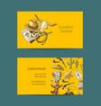 hand drawn cowboy business card vector image vector image
