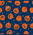 happy halloween seamless pattern vector image