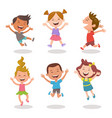 happy kids jumping and laughing set 2 3