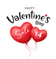 happy valentines day balloon heart red sale vector image