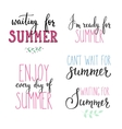 Hello summer lettering typography set vector image vector image