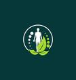 human therapy naturally creative business logo vector image vector image