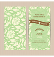 invitation card floral green vector image vector image