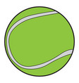 isolated tennis ball vector image vector image