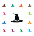 isolated witch icon wizard element can be vector image vector image