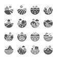 landscape icon set vector image