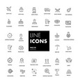 line icons set shipping vector image vector image