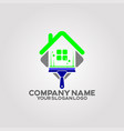 logo house cleaning services 01 vector image vector image