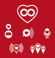 Love theme icons set conceptual valentine and vector image vector image